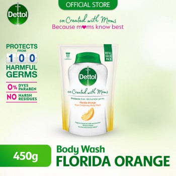 Dettol Co-Created with Mom Citrus Shower Gel Refill Pack - 450g