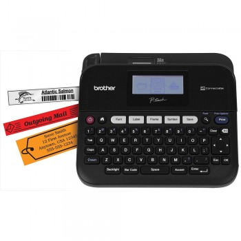 Brother PT-D450 Label Printer Labelling Machine - PC-Connectable, 20mm/sec, 6-18mm Tape, 180dpi