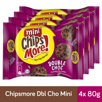 Chipsmore Double Chocolate Cookies (80g x 4)