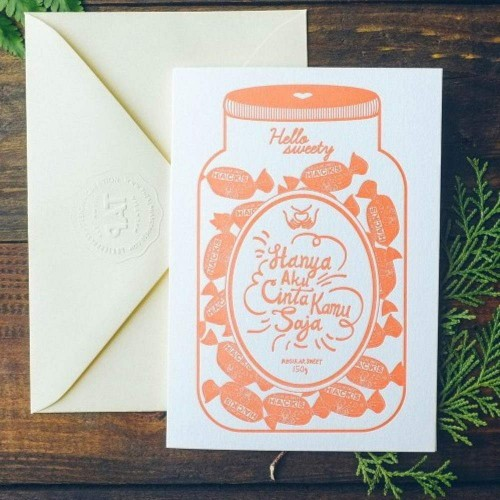 Letterpress Card - Hacks